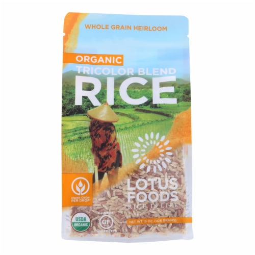 Lotus Foods Organic Volcano Rice - Case of 6 - 15 oz. Perspective: front