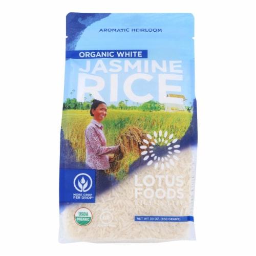 Lotus Foods Organic - Rice - White - Jasmine - Case of 6 - 30 oz Perspective: front