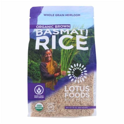Lotus Foods Organic Rice - Brown Basmati - Case of 6 - 30 oz Perspective: front