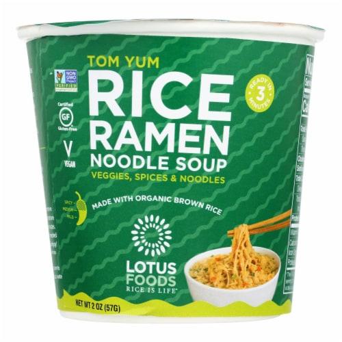 Lotus Foods Rice Ramen Noodles Soup - Case of 6 - 2 OZ Perspective: front