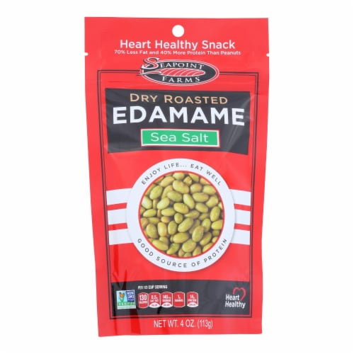Seapoint Farms Dry Roasted Edamame - Sea Salt - Case of 12 - 4 oz. Perspective: front