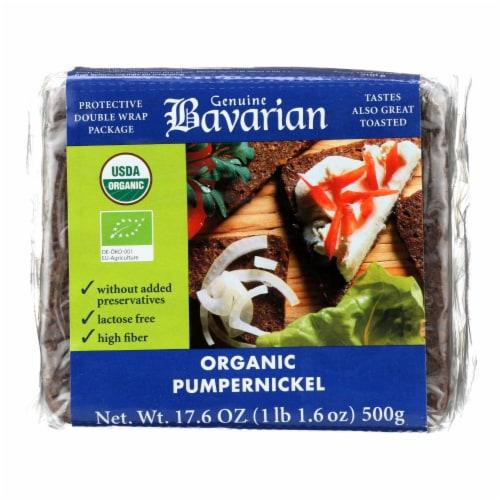 Genuine Bavarian Organic Bread - Pumpernickel - Case of 6 - 17.6 oz. Perspective: front