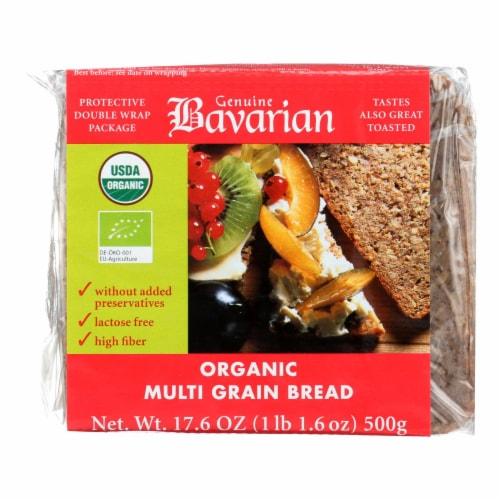 Genuine Bavarian Breads Rye - Multigrain - Case of 6 - 17.6 oz. Perspective: front