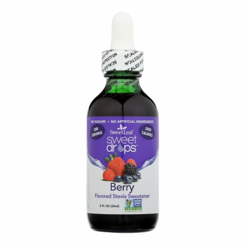 Sweet Leaf Liquid Stevia - Berry - 2 oz Perspective: front