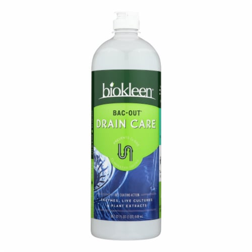 Biokleen Drain Care - Stain and Odor Remover - Case of 6 - 32 Fl oz. Perspective: front