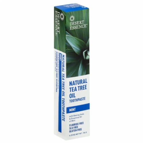 Desert Essence Mint Natural Tea Tree Oil Toothpaste, 6.25 Oz Perspective: front