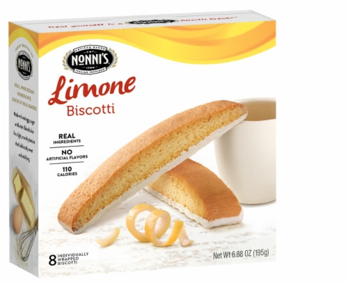 Nonni's Limone Biscotti , 6.88oz (Pack of 6) Perspective: front