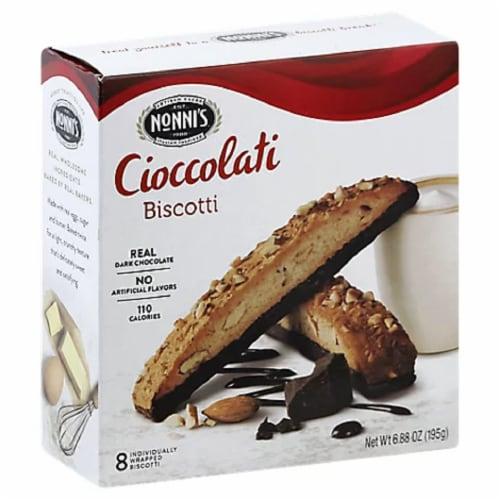Nonni's Cioccolati Biscotti 6.88 oz (Pack of 06) Perspective: front