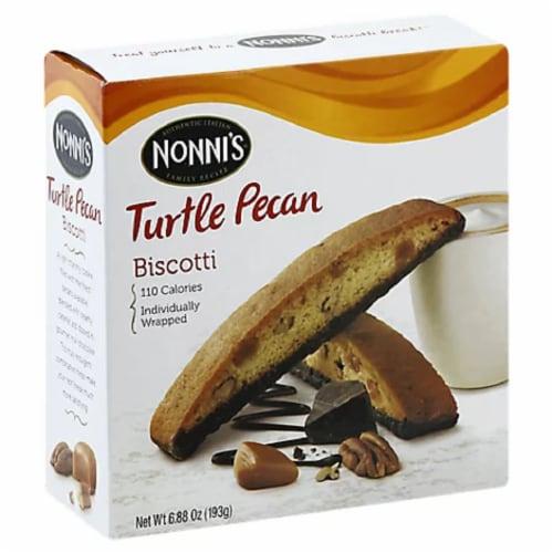 Nonni's Turtle Pe Biscotti 6.88 oz (Pack of 06) Perspective: front