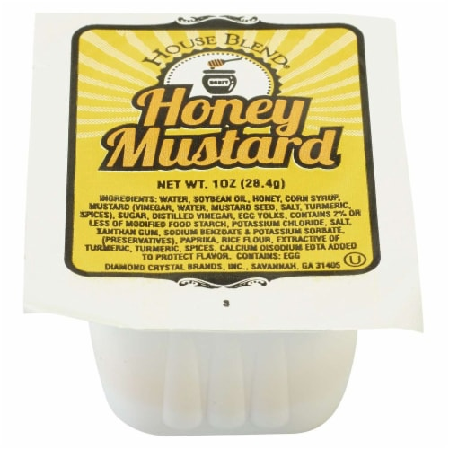 House Blend Low Sodium Honey Mustard Cup, 1 Ounce -- 100 per case. Perspective: front