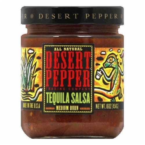 Desert Pepper Salsa Tequila, 16 OZ (Pack of 6) Perspective: front