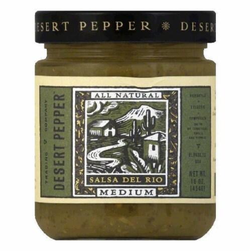 Desert Pepper Medium Green Salsa Del Rio, 16 OZ (Pack of 6) Perspective: front
