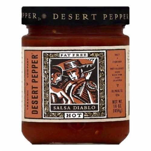 Desert Pepper Hot Diablo Salsa, 16 OZ (Pack of 6) Perspective: front