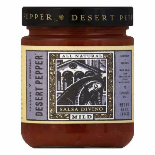 Desert Pepper Divino Salsa - Mild, 16 OZ (Pack of 6) Perspective: front
