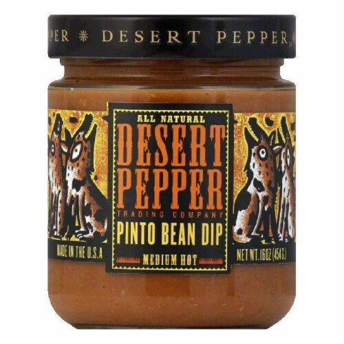 Desert Pepper Pinto Bean Dip, 16 OZ (Pack of 6) Perspective: front