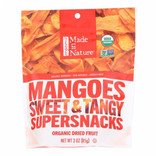 Made In Nature Mangoes Dried Fruit  - Case of 6 - 3 OZ Perspective: front