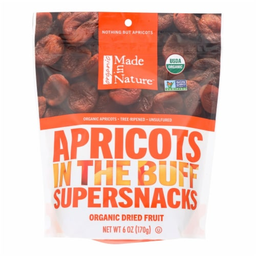 Made In Nature Apricots Organic Dried Fruit  - Case of 6 - 6 OZ Perspective: front