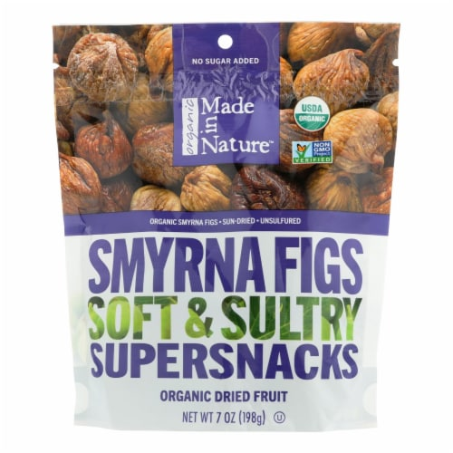 Made In Nature Dried Smyrna Figs  - Case of 6 - 7 OZ Perspective: front