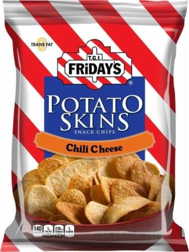 TGI Fridays, Potato Skins Chili & Cheese, 3.0 oz. BIG bag (6 count) Perspective: front
