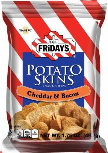 TGI Fridays, Potato Skins Cheddar & Bacon, 1.75 oz. Bag, (55 count) Perspective: front