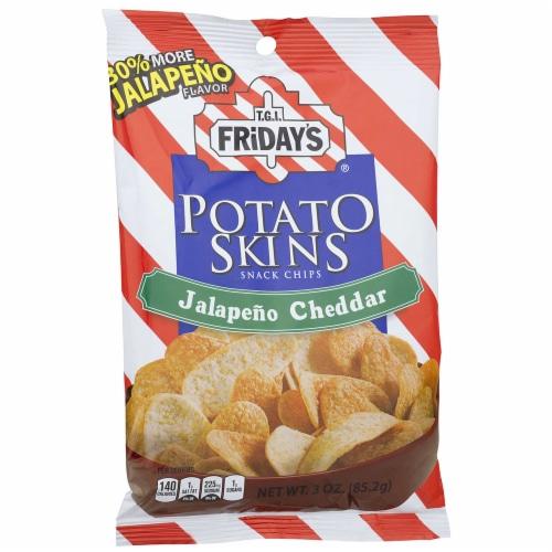 TGI Fridays Jalapeno Cheddar Potato Skin - 3 oz. bag, 6 per case Perspective: front