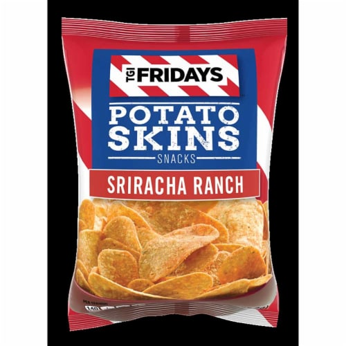 TGI Fridays Sriracha Ranch Hole Punched Potato Skins Snacks, 3 Ounce -- 6 per case. Perspective: front