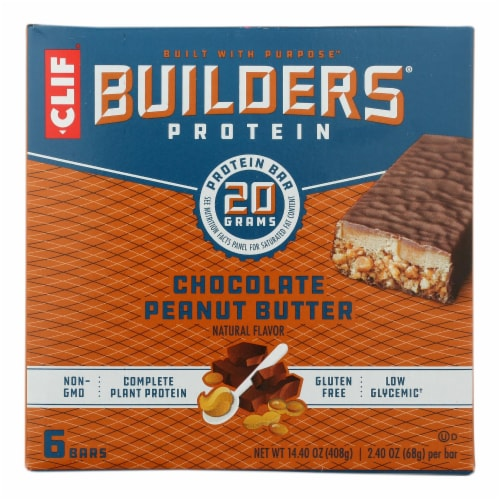 Clif Bar Builder's Protein - Case of 6 - 6/2.4 OZ Perspective: front