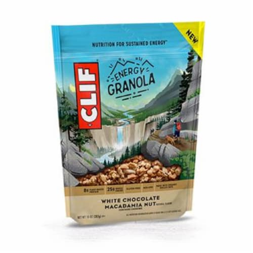 Clif White Chocolate Macadamia Crunch Energy Granola, 10 oz (Pack of 6) Perspective: front