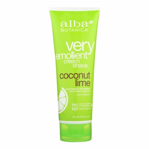 Alba Botanica - Moisturizing Cream Shave For Men and Women Coconut Lime - 8 fl oz Perspective: front