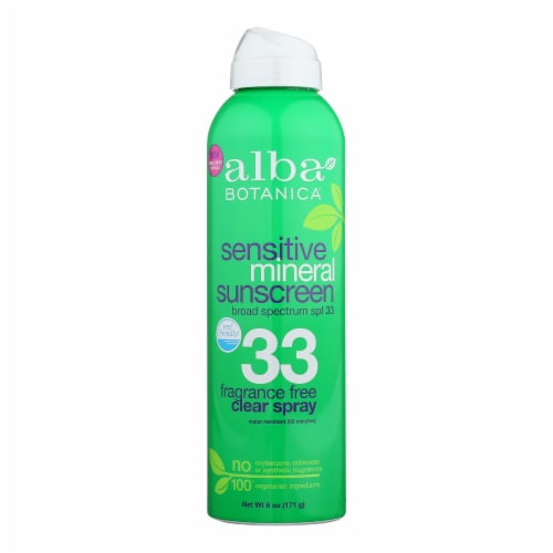 Alba Botanica Mineral Spray Sunscreen - Fragrance Free - 6 oz. Perspective: front