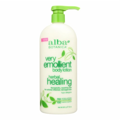 Alba Botanica - Body Lotion - Very Emollient - Herbal - 32 oz Perspective: front