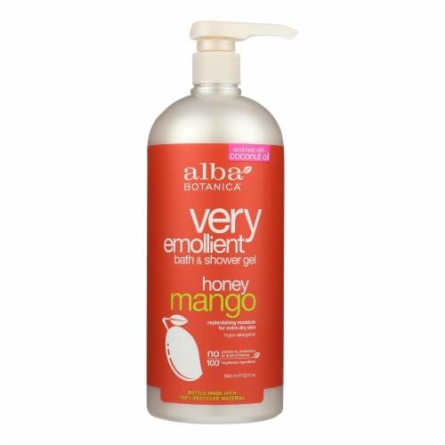 Alba Botanica - Very Emollient Bath and Shower Gel - Honey Mango - 32 fl oz Perspective: front