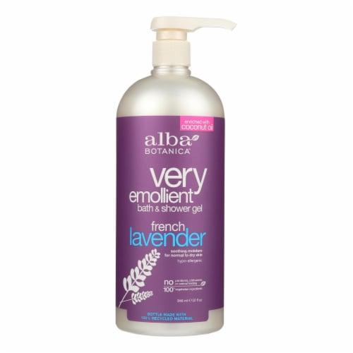 Alba Botanica - Very Emollient Bath and Shower Gel - French Lavender - 32 fl oz Perspective: front