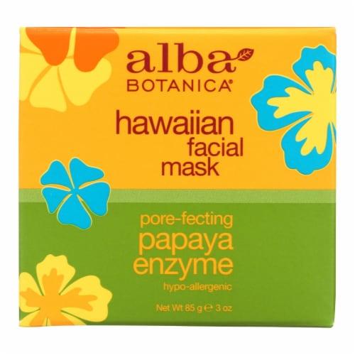 Alba Botanica - Hawaiian Papaya Enzyme Facial Mask - 3 oz Perspective: front