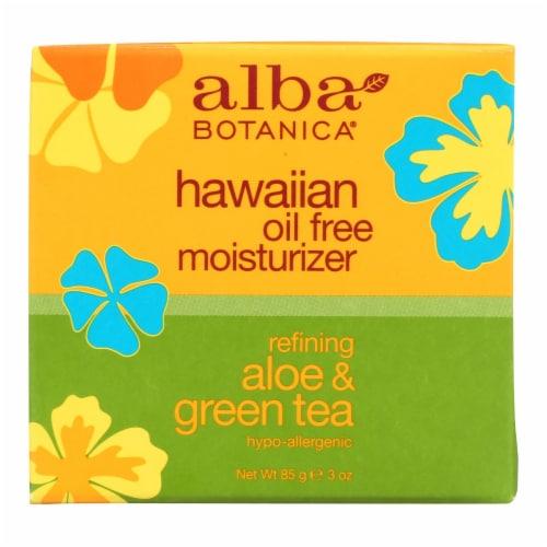 Alba Botanica - Hawaiian Aloe and Green Tea Moisturizer Oil-Free - 3 oz Perspective: front