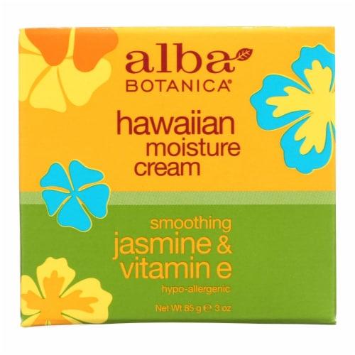 Alba Botanica - Hawaiian Moisture Cream Jasmine and Vitamin E - 3 oz Perspective: front