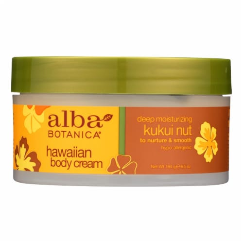 Alba Botanica - Hawaiian Body Cream Kukui Nut - 6.5 oz Perspective: front