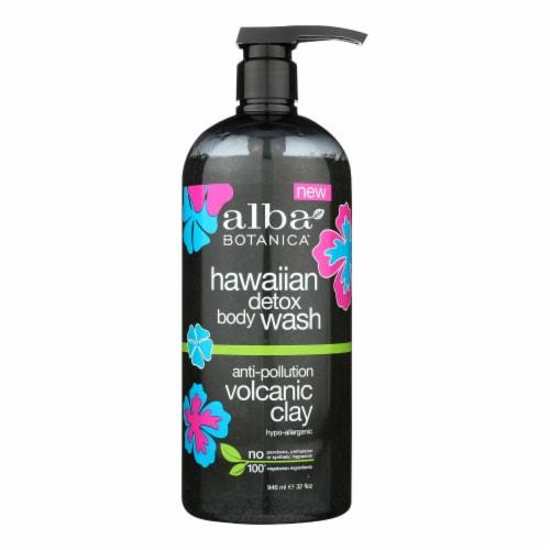 Alba Botanica - Hawaiian Detox Body Wash - Anti-Pollution Volcanic Clay - 32 fl oz Perspective: front