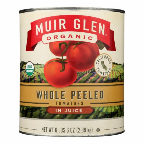 Muir Glen Organic Whole Peeled Tomatoes - Case of 6 - 102 oz Perspective: front