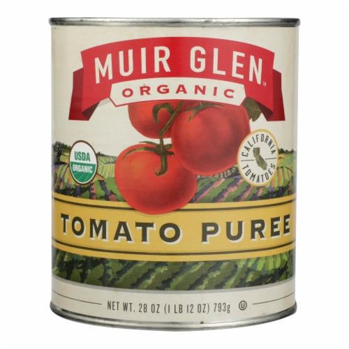 Muir Glen Muir Tomato Puree - Tomato - Case of 12 - 28 oz. Perspective: front