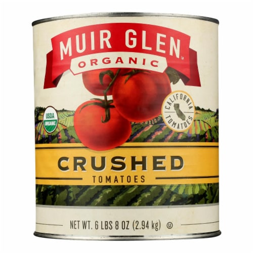 Muir Glen Organic Crushed Tomatoes - Case of 6 - 104 oz Perspective: front