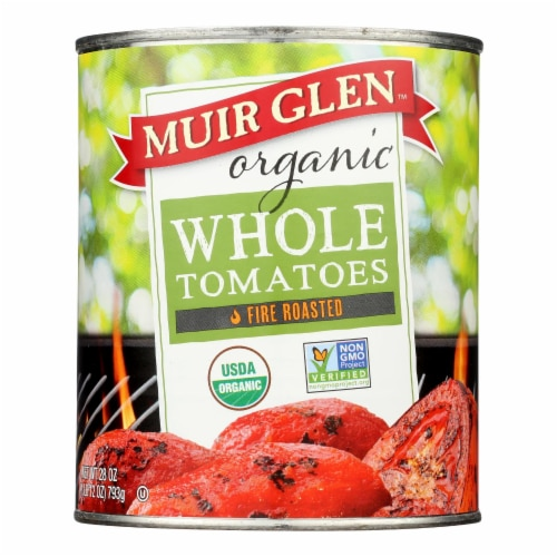 Muir Glen Fire Roasted Whole Tomatoes - Tomatoes - Case of 12 - 28 oz. Perspective: front