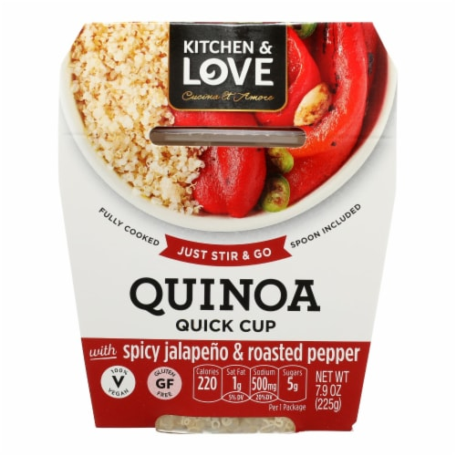 Cucina and Amore - Quinoa Meals - Spicy Jalapeno and Roasted Peppers - Case of 6 - 7.9 oz. Perspective: front