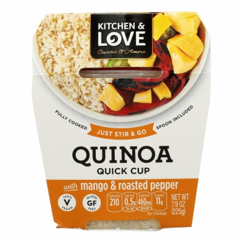 Cucina and Amore - Quinoa Meals - Mango and Jalapeno - Case of 6 - 7.9 oz. Perspective: front