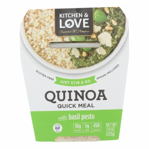 Cucina and Amore - Quinoa Meals - Basil Pesto - Case of 6 - 7.9 oz. Perspective: front