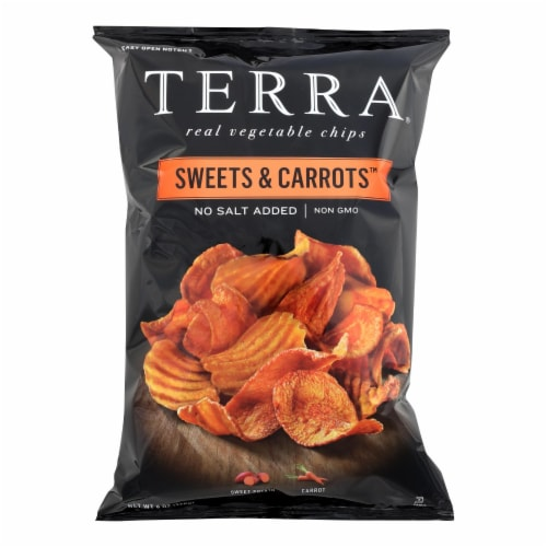 Terra Chips Sweet Potato Chips - Sweets and Carrots - Case of 12 - 6 oz. Perspective: front