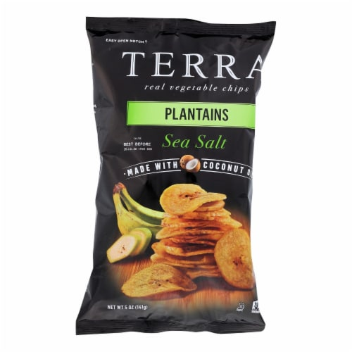 Terra Chips Veggie Chips - Plantains with Sea Salt - Case of 12 - 5 oz Perspective: front