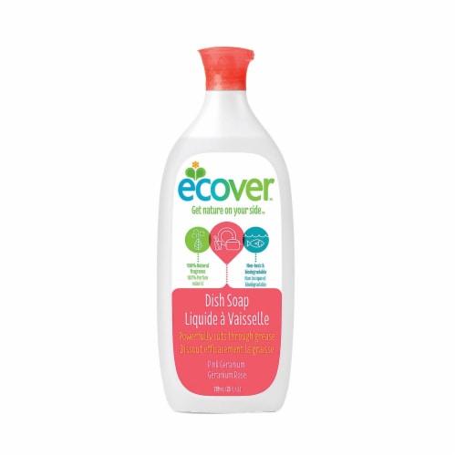 Ecover Liquid Dish Soap - Pink Geranium - Case of 6 - 25 FL oz. Perspective: front