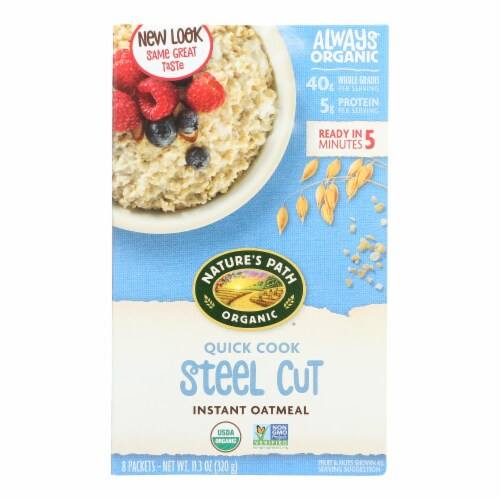 Nature's Path Oats - Organic - Steel Cut - Quick - Case of 6 - 8/1.4 oz Perspective: front