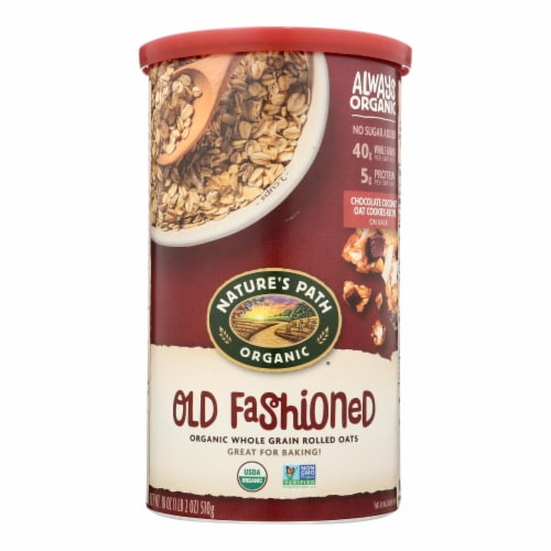 Nature's Path Oats - Old Fashioned - Case of 6 - 18 oz. Perspective: front